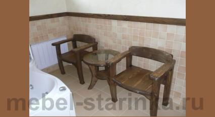 Столик и два кресла для ванной под старину