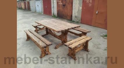 """Комплект стол и лавки """"Дачный"""""""