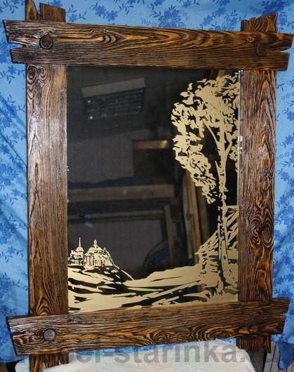 Зеркало из дерева своими руками 311