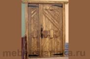 """Дверь под старину """"Изба"""""""