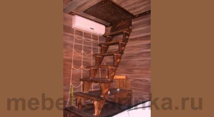 """Лестница """"Под старину"""" прямая"""