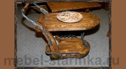 "Стол на колёсиках под старину ""Гигант"""