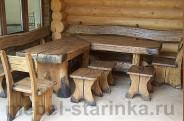 """Угловой комплект стол и стулья """"Семейный"""""""