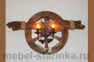 Светильник  под старину 'Колесо'